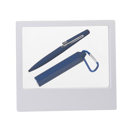 "Набор ручка ""Pluton"" + зарядник ""Minty"" 2800 mAh в футляре, покрытие soft touch фото"