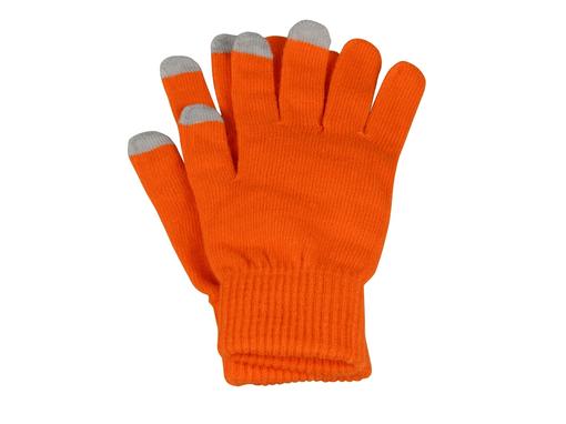 Перчатки для сенсорного экрана Сет, оранжевый/серый фото