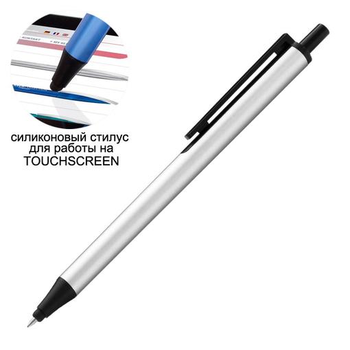 Ручка шариковая со стилусом FLUTE TOUCH, серый фото