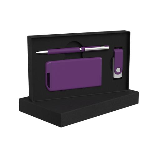 Набор: ручка, флеш-карта 16 GB, зарядное устройство 4 000 mAh  фото