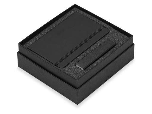 Подарочный набор To go с блокнотом А6 и зарядным устройством, черный фото