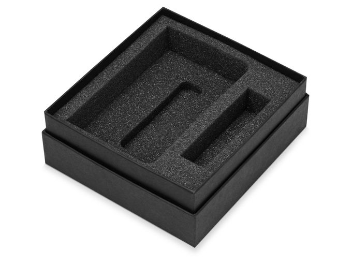 Набор To go: блокнот Vision А6, зарядное устройство Брадуэлл 2200 mAh, черный фото