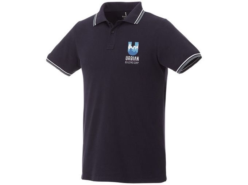 Рубашка поло Fairfield мужская, темно-синяя фото