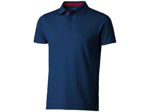 Рубашка поло Hacker мужская, синяя фото