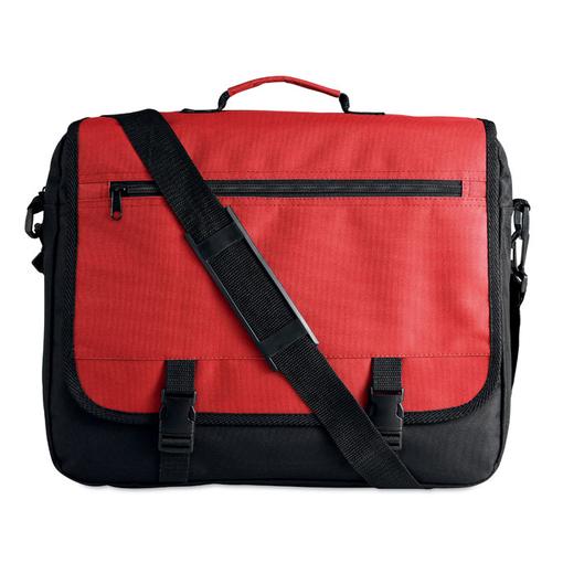 Сумка для документов, плечевой ремень, красный/черный фото