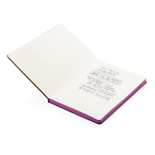 Блокнот на резинке А5, 80 страниц, черный/фиолетовый фото