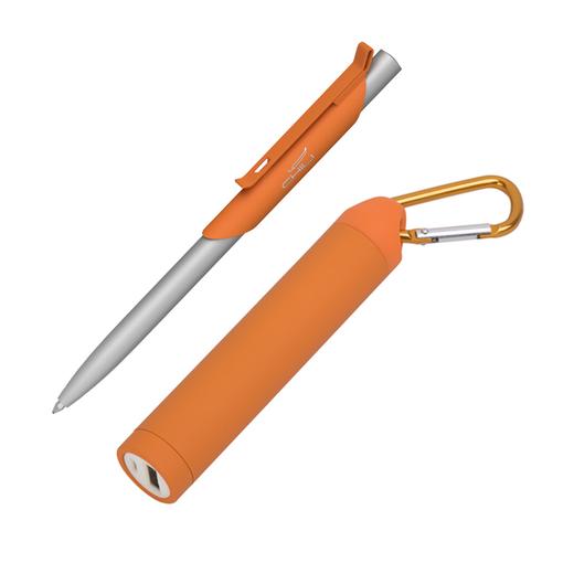 """Набор ручка """"Skil"""" + зарядное устройство """"Minty"""" 2800 mAh в футляре, покрытие soft touch фото"""