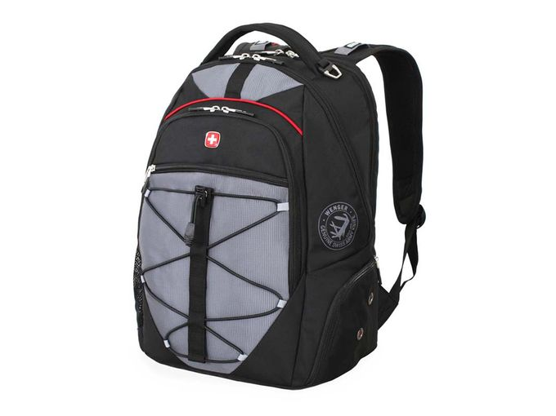 Рюкзак с отделением для ноутбука 15, черный, серебряный/серый фото