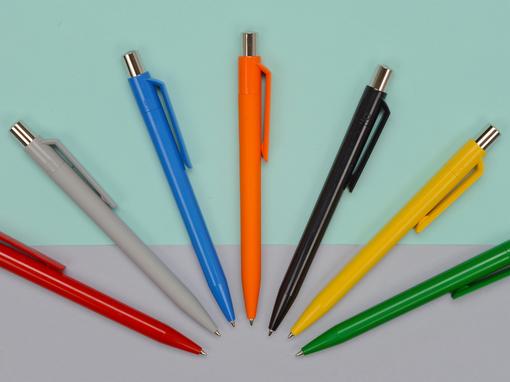 Ручка пластиковая шариковая ON TOP SI F, жёлтый фото