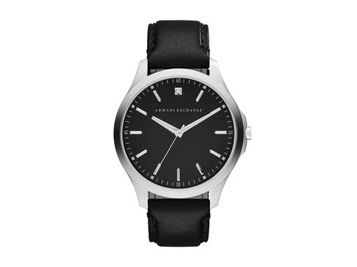 Часы наручные, мужские, черный, серебряный/серый фото