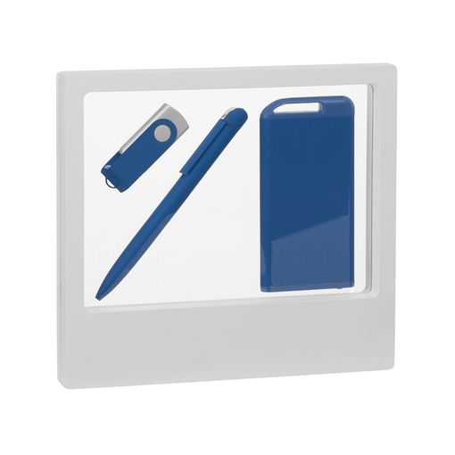 "Набор ручка ""Jupiter"" + флеш-карта ""Vostok"" 8 Гб + зарядник ""Theta"" 4000 mAh в футляре фото"