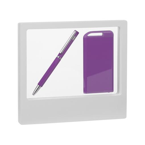 "Набор ручка ""Mars"" + зарядник ""Theta"" 4000 mAh в футляре, покрытие soft touch фото"