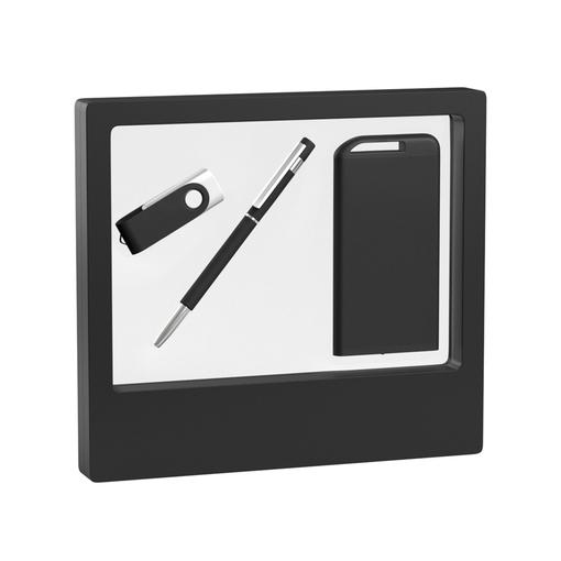 "Набор ручка ""Star"" + флеш-карта ""Vostok"" 16 Гб + зарядник ""Theta"" 4000 mAh в футляре фото"