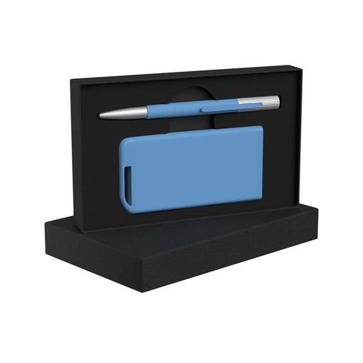 """Набор ручка """"Clas"""" + зарядное устройство 4000 mAh в футляре, покрытие soft touch фото"""