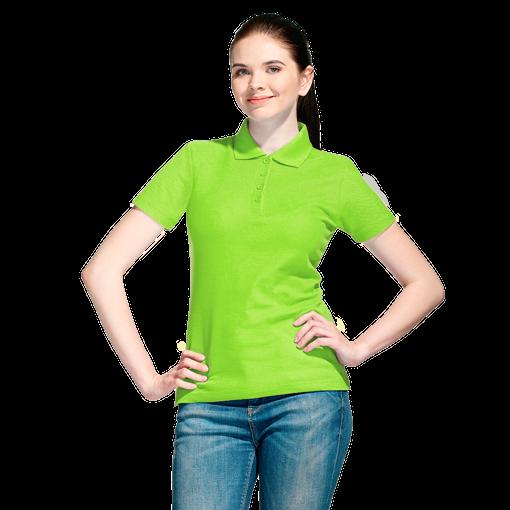Рубашка поло StanWomen женская, ярко-зеленый фото