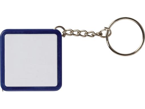 Брелок - рулетка квадратный с вставкой, синий фото