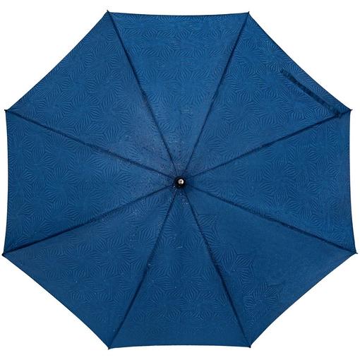 Зонт-трость Magic с проявляющимся цветочным рисунком, темно-синий фото