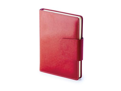 Ежедневник недатированный Prestige А5, 320стр, красный фото