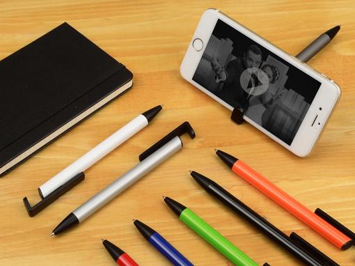 Ручка-подставка шариковая Кипер Металл, черный, серый фото