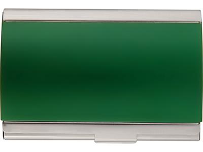 Визитница с полукруглой крышкой, зеленый фото