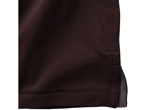 Рубашка поло Elevate Calgary детская, швы Pick-Stitch, коричневый фото