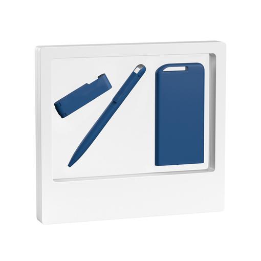"""Набор ручка """"Jupiter"""" + флеш-карта """"Case"""" 8 Гб + зарядник """"Theta"""" 4000 mAh в футляре фото"""