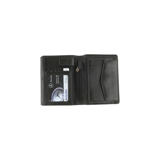 Портмоне, отделение для водительских документов, отделение для мелочи, кармашек на молнии, черный фото