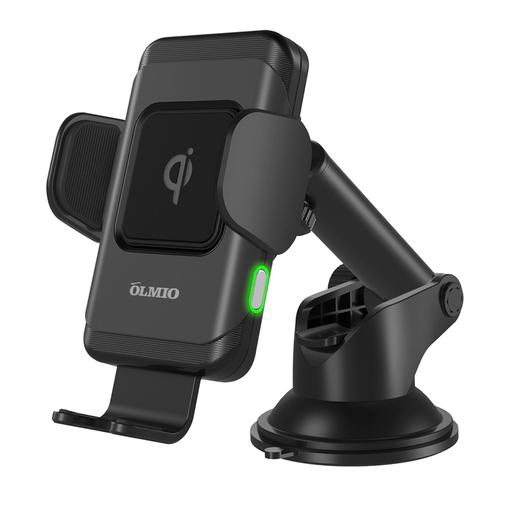 Автомобильный держатель с зарядкой OLMIO Robo QI, 10W фото