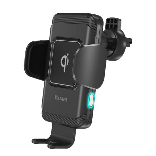 Держатель с зарядкой автомобильный Olmio Robo QI, 10W, черный фото