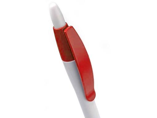 Ручка шариковая Celebrity Пиаф, белая/красная фото