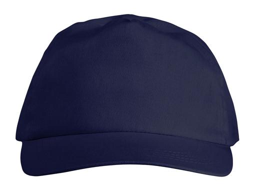 Бейсболка Basic 5 клиньев с застежкой на липучке, темно-синий фото