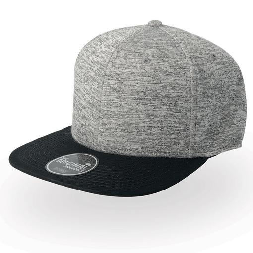 Бейсболка Boost, 6 клиньев, серый/черный фото