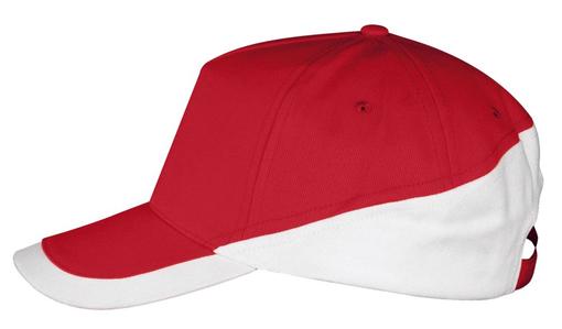 Бейсболка BOOSTER, красная с белым фото