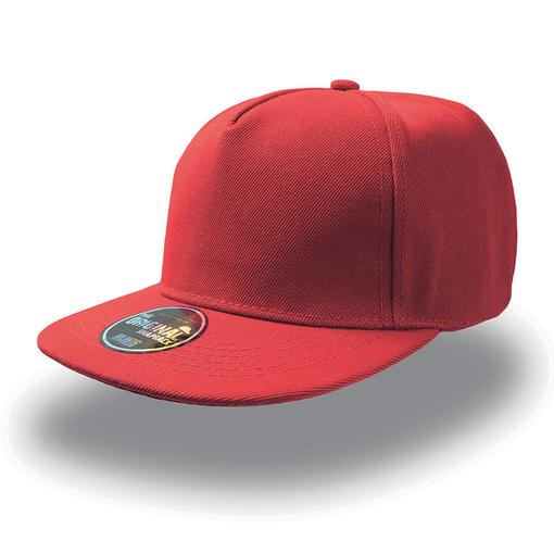 Бейсболка SNAP FIVE 5 клиньев, плоский козырек, красный фото