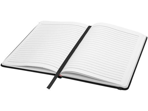 Блокнот в линейку на резинке Spectrum А5, 96 листов, черный фото