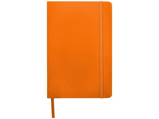Блокнот в линейку на резинке Spectrum А5, 96 листов, оранжевый фото