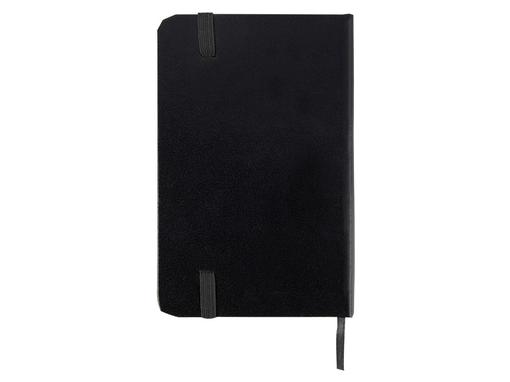 Блокнот на резинке Имлес А6, черный/черный фото