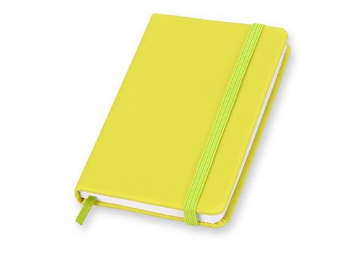 Блокнот на резинке Rainbow S, 80 листов, желтый фото