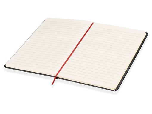 Блокнот на резинке Жанто А5, 80 листов, черный/красный фото