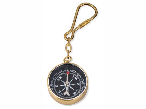 Брелок-компас, золотой фото