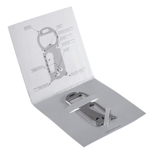 Брелок мультитул Key Tool 16+, серый фото