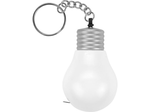 Брелок - рулетка Лампочка 1м, белый фото