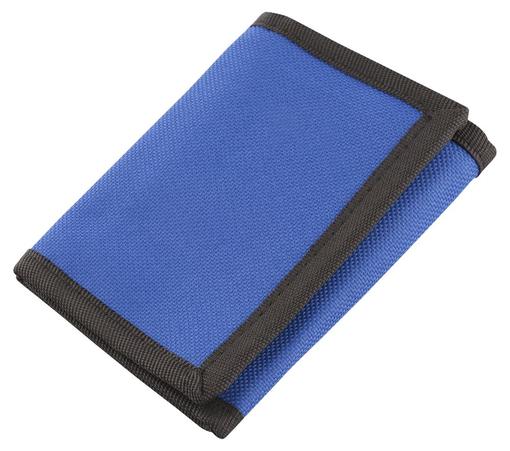 Бумажник на липучке, синий фото