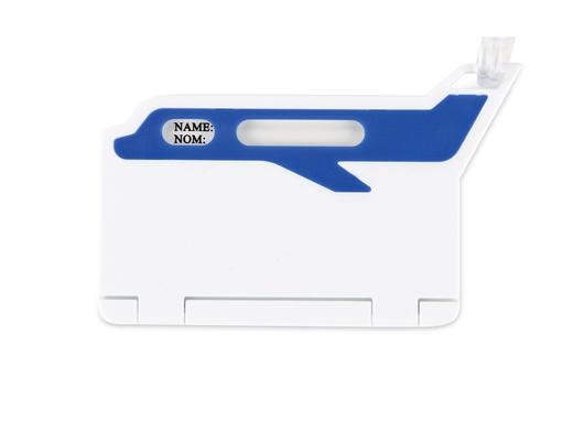 Бирка для багажа Hop, бело-синяя фото