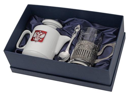 Чайный набор Эгоист, прозрачный, серый, белый фото