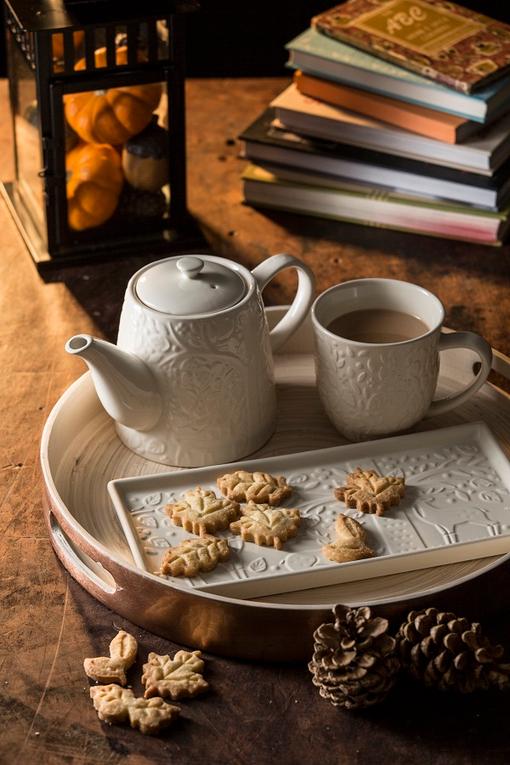 Чайник заварочный in the forest 1 л, белый фото