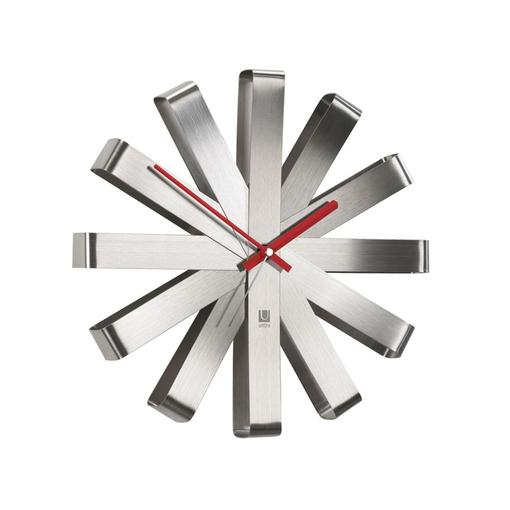 Часы настенные Ribbon, стальные фото