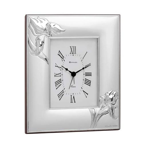 Часы настольные Ирис, серый фото