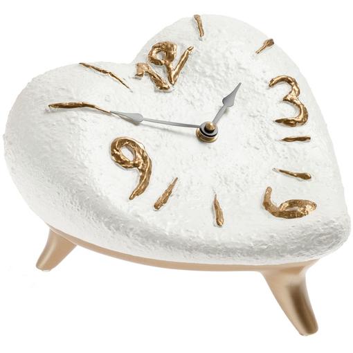 Часы Сердце, бело-золотые фото