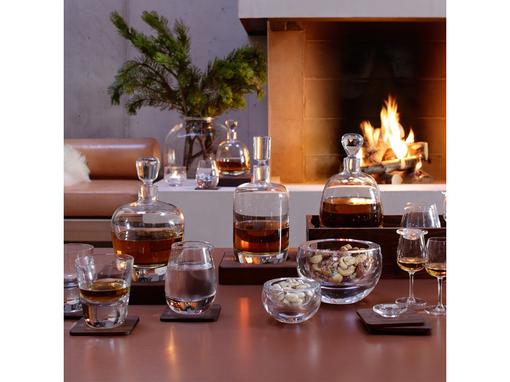Декантер arran whisky с деревянной подставкой whisky 1 л, прозрачный фото